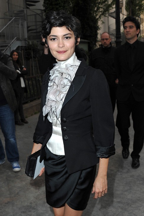 Audrey Tautou au Palais de Tokyo de Paris le 3 mai 2013