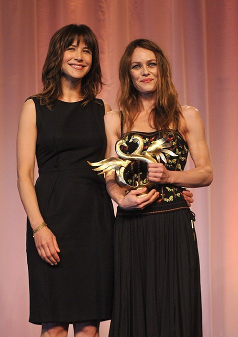 Vanessa Paradis au Festival du Film romantique de Cabourg le 16 juin 2012