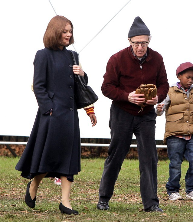 Vanessa Paradis sur le tournage de Fading Gigolo à New-York le 15 novembre 2012
