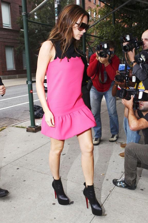 Victoria Beckham faisant son shopping dans les boutiques de luxe de New York, le 11 septembre 2011.