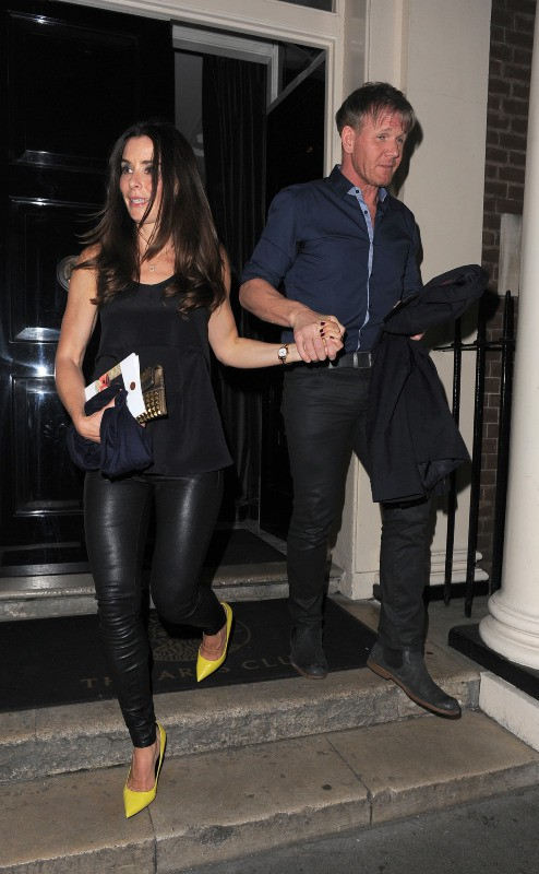 Tana et Gordon Ramsay à la sortie du Arts Club à Londres, le 27 avril 2014.