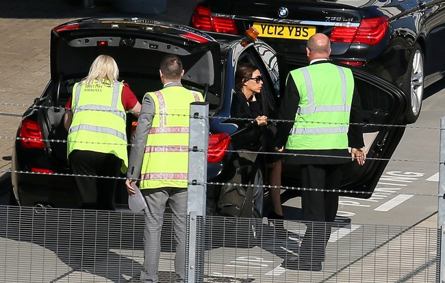 Victoria Beckham à l'aéroport d'Heathrow à Londres, le 27 août 2013.