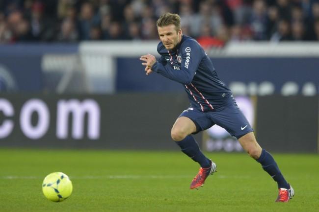 David Beckham le 9 mars 2013 à Paris