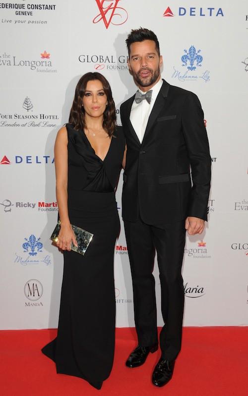 Eva Longoria et Ricky Martin au Global Gift Gala à Londres, le 17 novembre 2014