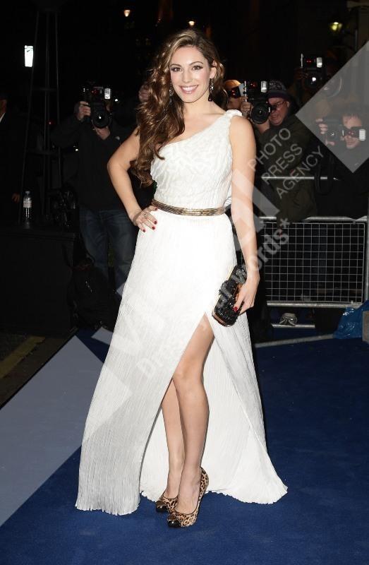 Kelly Brook lors de la soirée des British Fashion Awards à Londres, le 28 novembre 2011.