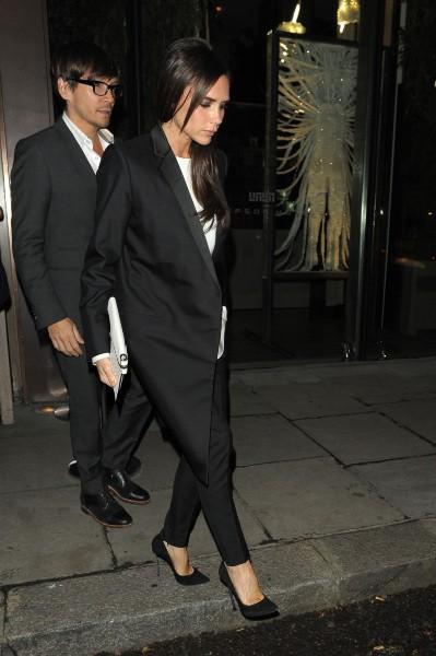 Victoria Beckham et Ken Paves à Londres, le 18 novembre 2013.