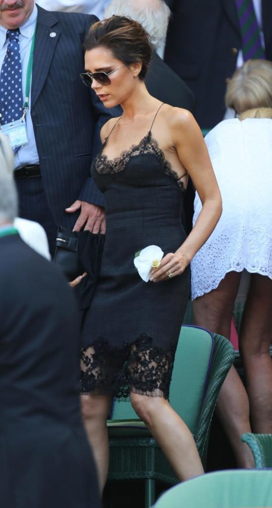 Victoria Beckham à Wimbledon, le 7 juillet 2013.