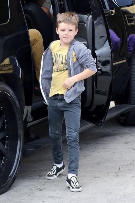 Cruz Beckham à Beverly Hills, le 4 avril 2013.