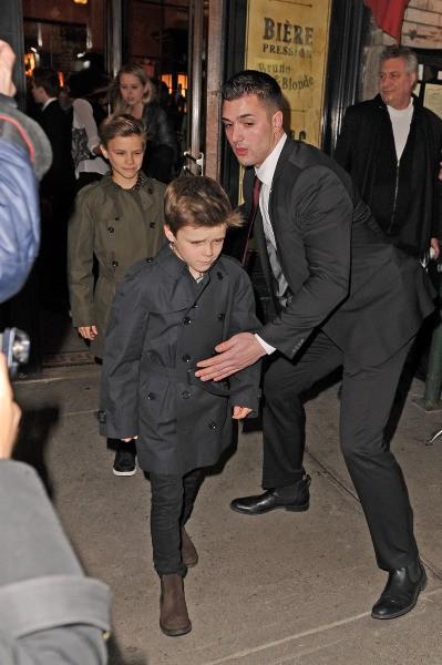 Les enfants Beckham à New York, le 9 février 2014.