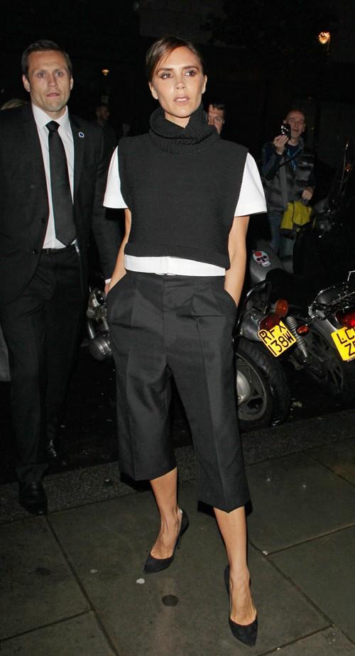 Victoria Beckham au dîber Vogue à Londres le 15 septembre 2013