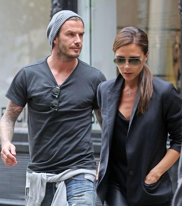 Victoria et David Beckham à New-York le 9 juin 2013