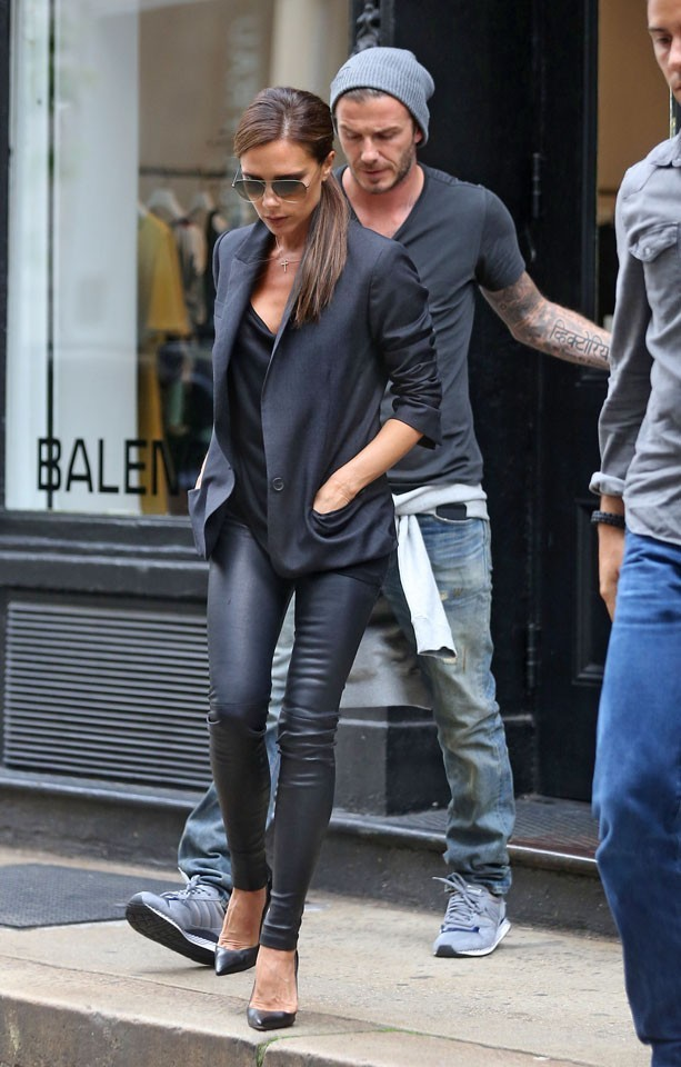 Victoria et David Beckham à New-York le 9 juin 2013