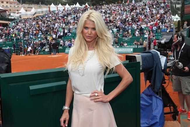 Victoria Silvstedt aux Monte-Carlo Rolex Masters le 19 avril 2013