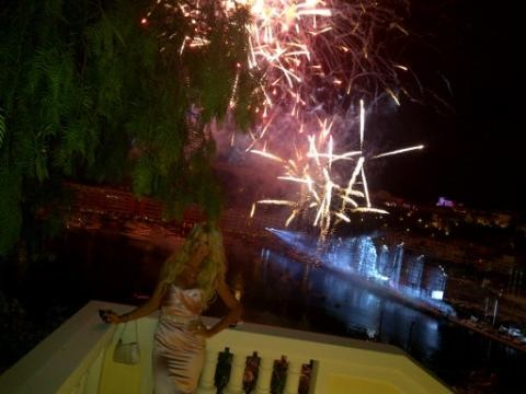 Oui, elle était aussi là pour admirer le feu d'artifices !
