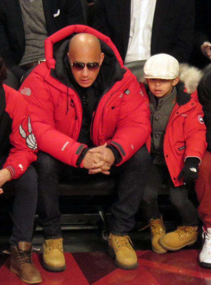 Vin Diesel et son fils sont habillés de la même façon