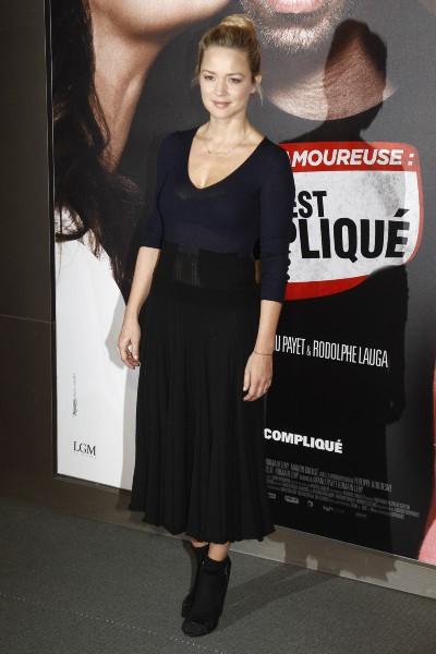 """Virginie Efira lors de la première de """"Situation amoureuse : C'est compliqué"""" à Paris, le 17 mars 2014."""