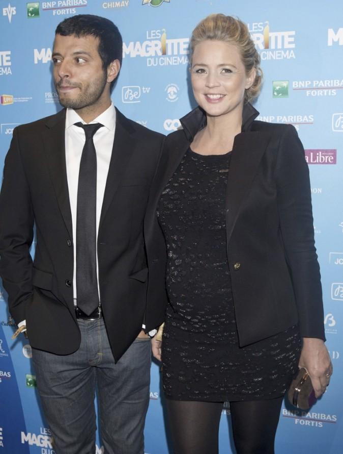 Virginie Efira et son compagnon Mabrouk el Mechri lors de la 3ème cérémonie des Magritte du cinéma à Bruxelles en Belgique, le 2 février 2013.