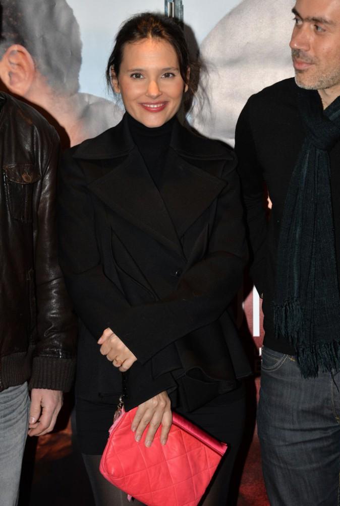 """Virginie Ledoyen lors de la première du film """"Une autre vie"""" à Paris, le 20 janvier 2014."""
