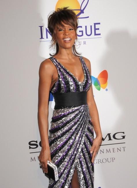Whitney Houston lors de la pre-grammy party organisée par Clive Davis, le 10 février 2008.