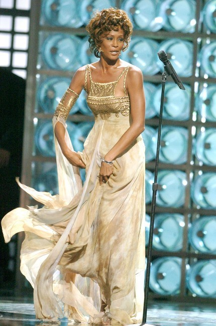 Whitney Houston lors des World Music Awards à Las Vegas, le 14 septembre 2004.