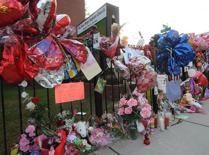 Les funérailles de Whitney à Newark, en février 2012. Les fans lui rendaient hommage.