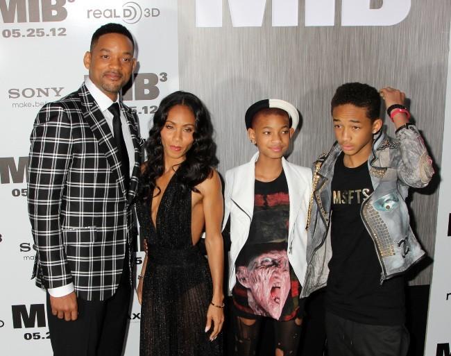 Will Smith en famille lors de la première new-yorkaise de MIB 3, le 23 mai 2012.