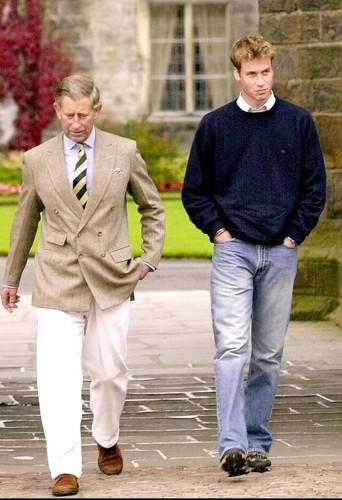 Lors de sa rentrée universitaire à l'école St. Andrews, en septembre 2001