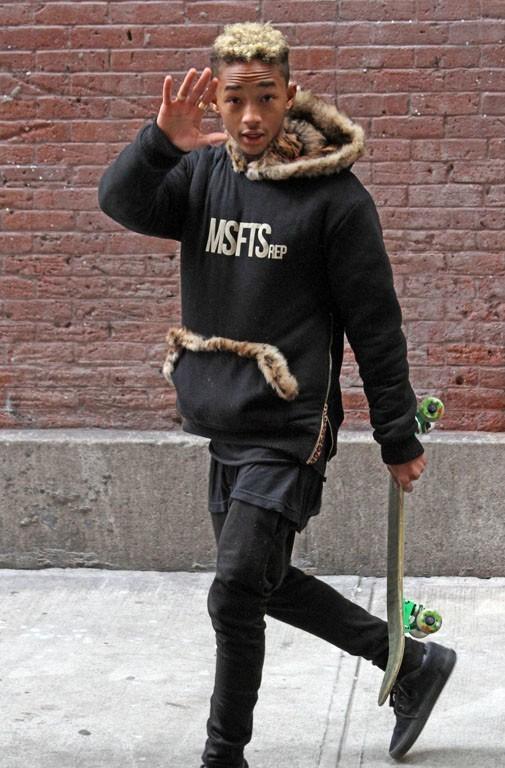 Jaden et Willow Smith à New-York sur le tournage du clip Hello le 25 février 2013