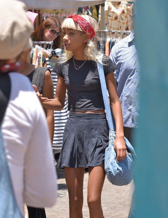 Willow Smith aux puces d'Hollywood le 7 juillet 2013
