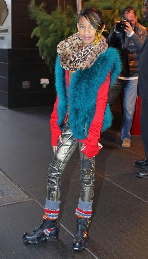 Willow Smith à la sortie de son hôtel new-yorkais hier