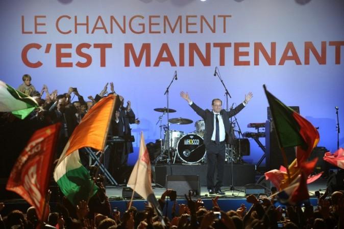 Victoire de François Hollande à la présidentielle 2012.