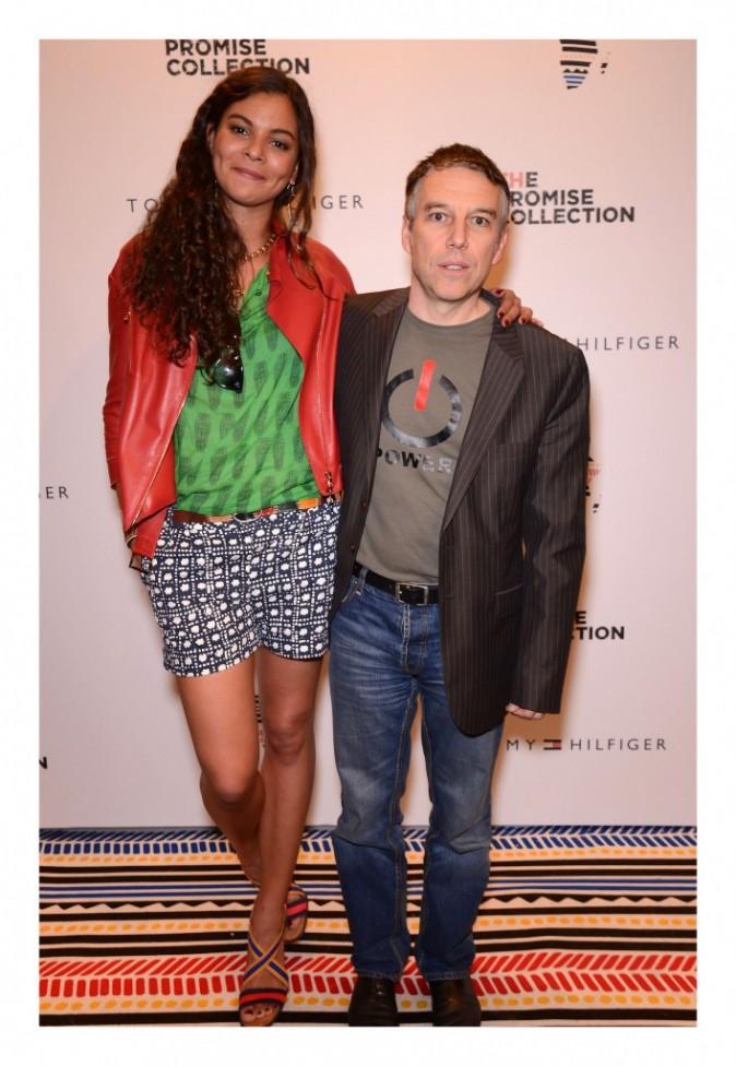 Yelena Noah et Philippe Vandel lors de la soirée Tommy Hilfiger à paris, le 26 avril 2012.