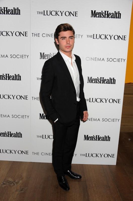 Zac Efron lors de la première du film The Lucky One à New York, le 19 avril 2012.