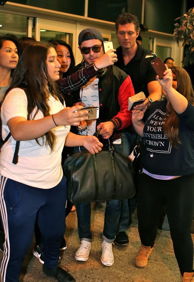 Zac Efron à Toronto le 13 août 2015