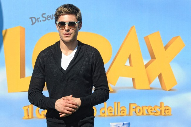 Zac Efron lors de la promo du film Le Lorax à Rome, le 9 mars 2012.