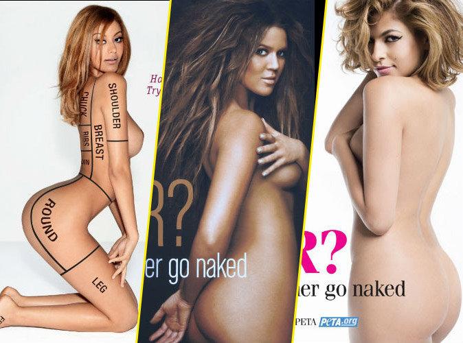 Zahia, Khloe Kardashian, Eva Mendes... 55 stars toutes nues pour la PETA !