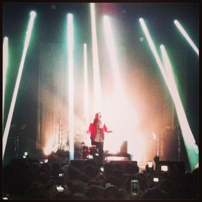 Zaho en concert à l'Olympia, le 19 novembre 2013.