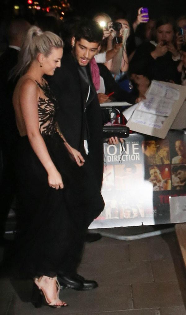 """Perrie Edwards et Zayn Malik à l'after-party de """"1D : This is us"""" à Londres le 20 août 2013"""