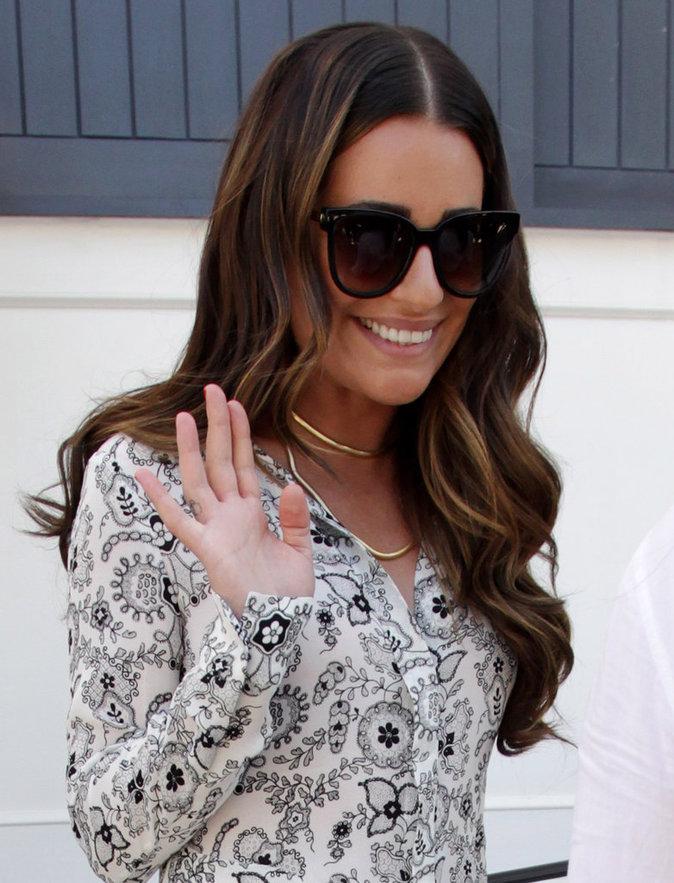 Photos : Lea Michele : belle de jour pour le déjeuner Glamour !
