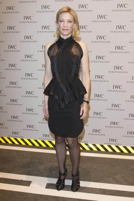 Cate Blanchett lors de la soirée IWC Schaffhausen Top Gun Gala à Genève, le 17 janvier 2012.