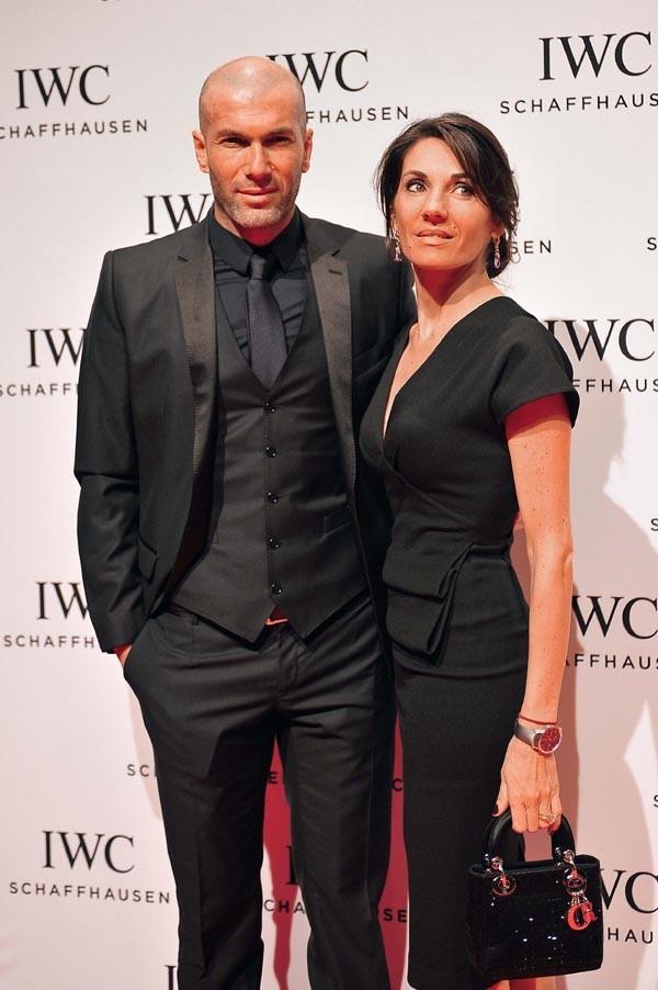 Zinédine Zidane et sa femme Véronique à Genève le 22 janvier 2013