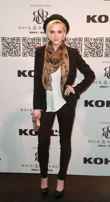 Ashlee Simpson lors du défilé Rock & Republic à New York, le 10 février 2012.