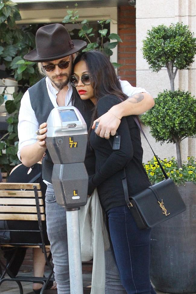 Zoe Saldana et Marco Perego à Los Angeles le 15 février 2015