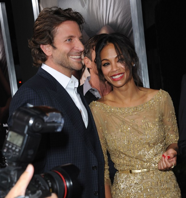 Bradley Cooper et Zoe Saldana à l'avant-première de The Words à Hollywood le 4 septembre 2012