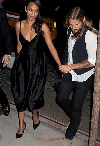 Zoe Saldana et Marco Perego à New York le 29 juillet 2014
