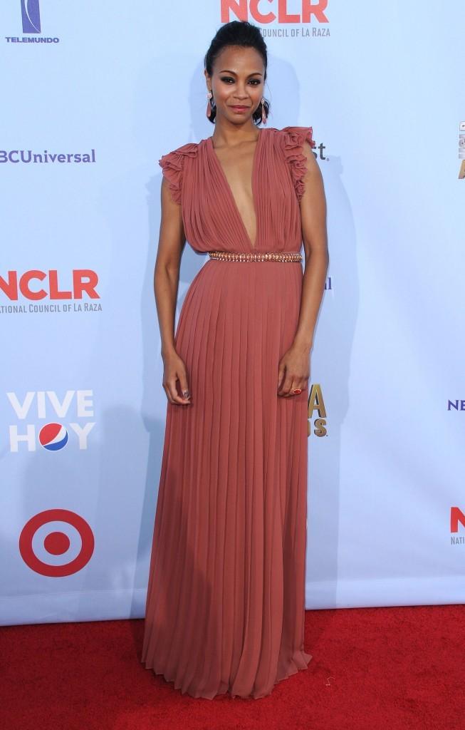 Zoe Saldana lors des ALMA Awards 2012 à Pasadena, le 16 septembre 2012.
