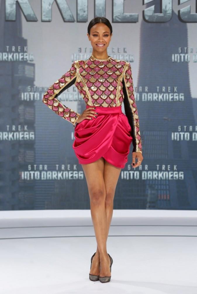 "Zoe Saldana lors de la première du film ""Star Trek Into Darkness"" à Berlin, le 29 avril 2013."