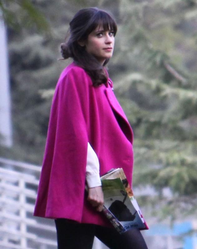Zooey Deschanel sur le tournage de New Girl le 22 janvier 2013 à West Hollywood