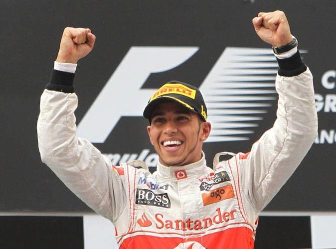 Lewis Hamilton, toujours de bonne humeur, surtout quand il gagne!