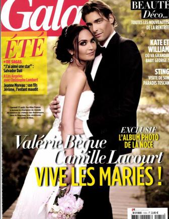 Valérie Bègue et Camille Lacourt